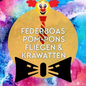 Federboas, Pom-Pons, Fliegen & Krawatten